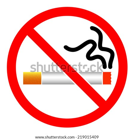 No Smoking signs icon symbol vector isolated