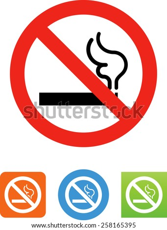 No smoking symbol for download. Vector icons for video, mobile apps, Web sites and print projects.