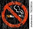No smoking symbol grunge background. Vector illustration. - stock vector