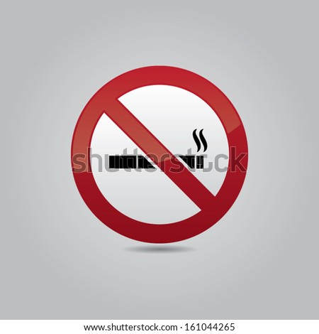 No Smoking Vector Icon - stock vector