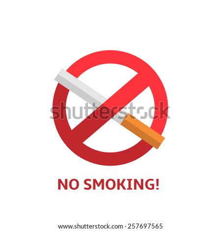 No smoking vector sign on the white background  - stock vector