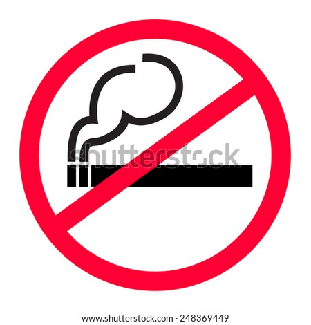 No smoking zone vector