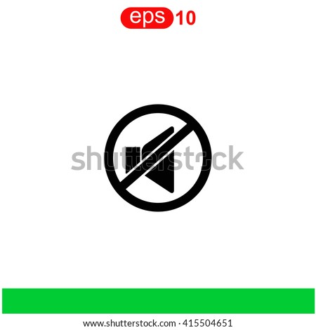 No sound icon. Universal icon to use in web and mobile UI - stock vector