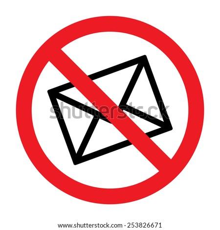 No Spam Sign - stock vector