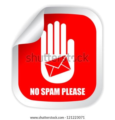 No spam vector label - stock vector