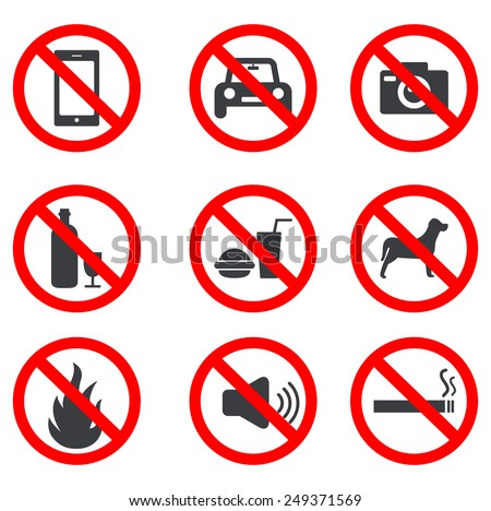 No Stop Sign - stock vector