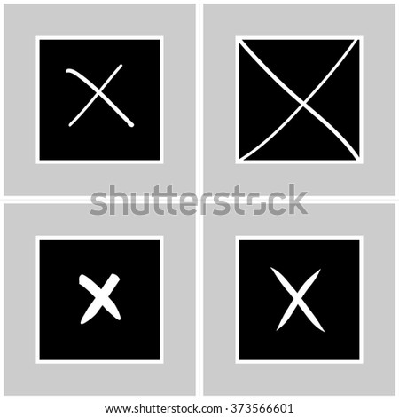 No tick cross box signs Vector EPS10, Great for any use - stock vector