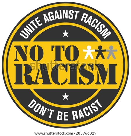 no to racism - stock vector