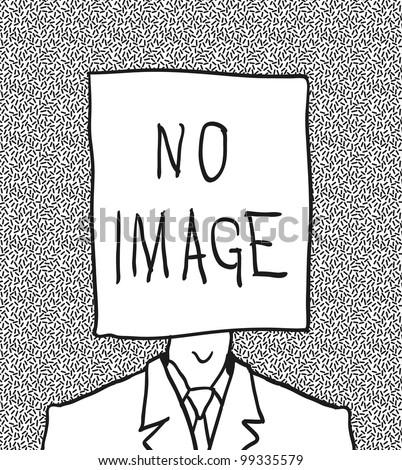 no user profile picture. hand drawn. - stock vector