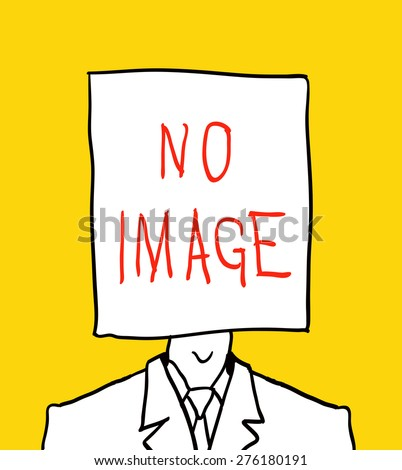 no user profile picture. hand drawn illustration - stock vector
