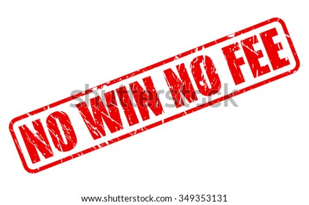 NO WIN NO FEE red stamp text on white - stock vector
