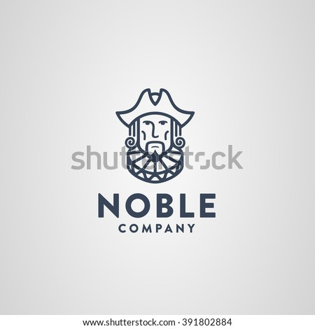 Noble Symbol Aristocrat Decked Out Cocked Stock Vector 391802884