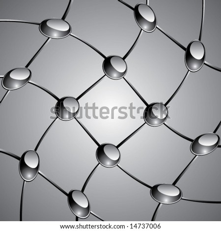 Node and Mesh Background Vector