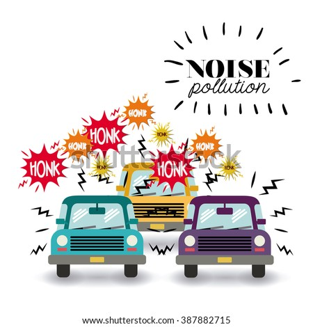 noise pollution design, vector illustration eps10 graphic  - stock vector