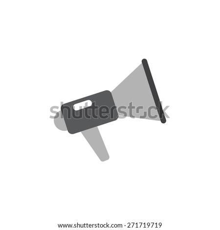 Noisy megaphone icon vector illustration eps10 on white background - stock vector