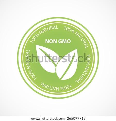 Non gmo natural product concept logo - stock vector