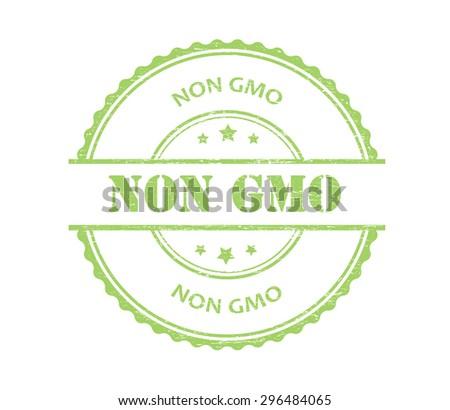 Non gmo rubber stamp.Non gmo grunge stamp.Vector illustration. - stock vector