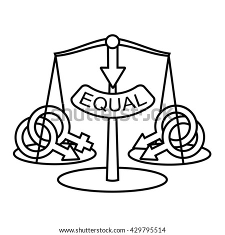 Nontraditional Marriage Equality Concept Gay Marriage Stock Vector