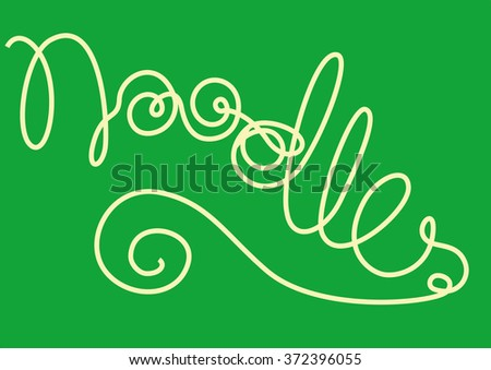 Noodles forming the word 'Noodles' - stock vector