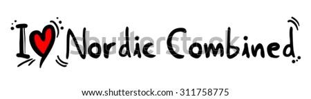Nordic Combined love - stock vector