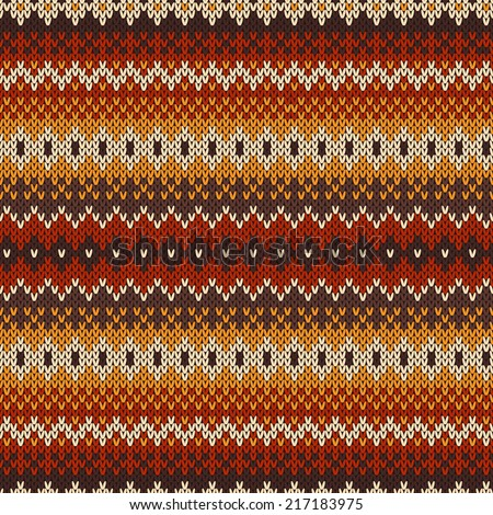 Nordic traditional Fair Isle style seamless pattern on the wool