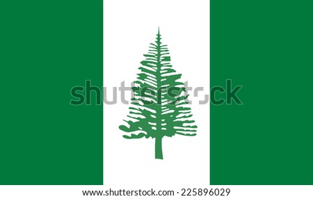 Norfolk Island Flag vector. - stock vector