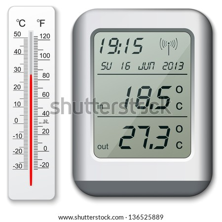 Normal and digital thermometer