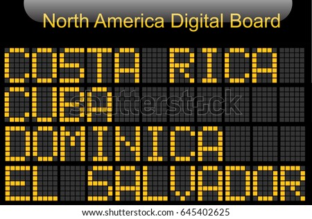 North America Country Digital Board Information