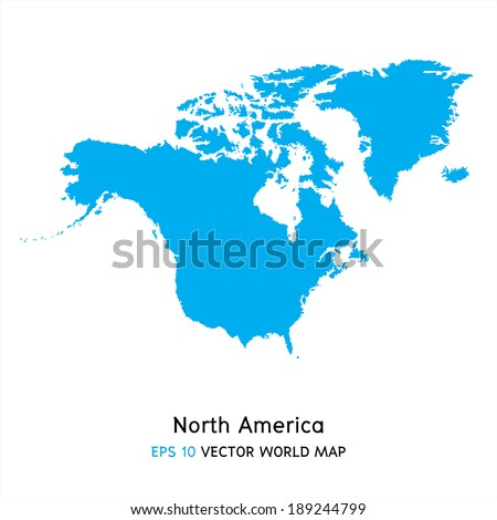 north america map background vector, EPS10 - stock vector