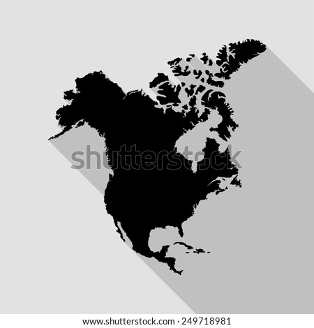 Vector North America Map Stock Vector 382426489 Shutterstock