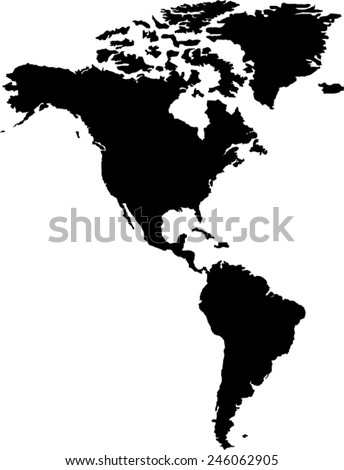 Vector Map North South America Stock Vector 28942033 Shutterstock