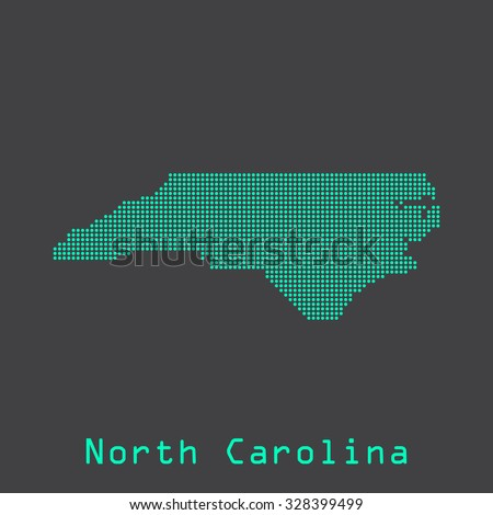 North Carolina abstract dots state map. Dotted style. Vector illustration EPS8 - stock vector