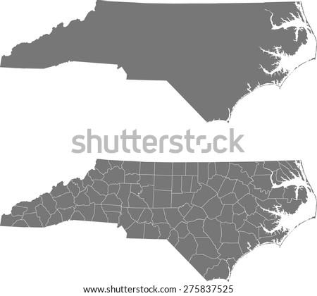 North Carolina Map Stock Images RoyaltyFree Images Vectors - Map of no carolina