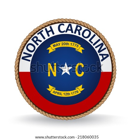 North Carolina Seal - stock vector