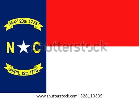 North Carolina state flag - stock vector