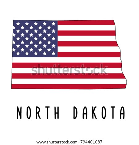 North Dakota Map Isolated On White Stock Vector (Royalty Free ...