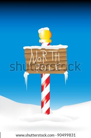North Pole - stock vector