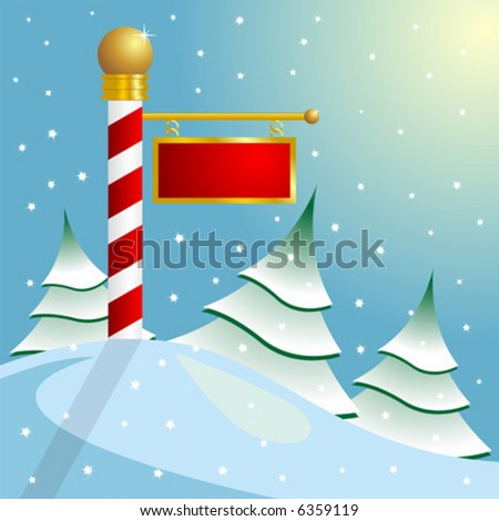 North Pole sign with copyspace - stock vector