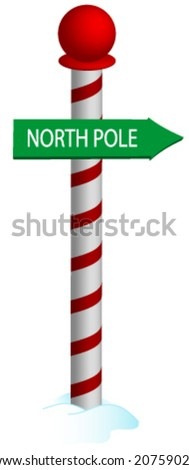 North Pole Vector. - stock vector