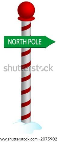 North Pole Vector. - stock vector