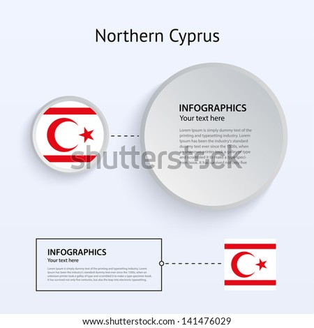 Northern Cyprus Country Set of Banners on gray background for Infographic and Presentation. Vector illustration. - stock vector