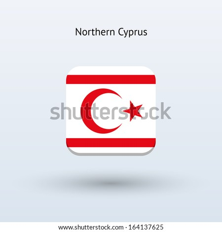 Northern Cyprus flag icon. Vector illustration. - stock vector