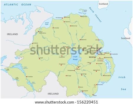 Northern Ireland Map Stock Images RoyaltyFree Images Vectors - Northern ireland map