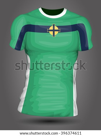 Northern Ireland soccer jersey - stock vector