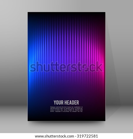 Northern lights background of bright glowing blur lines. Vector illustration Eps 10. Futuristic style glow neon disco club or night party. Gorgeous graphic image template - stock vector
