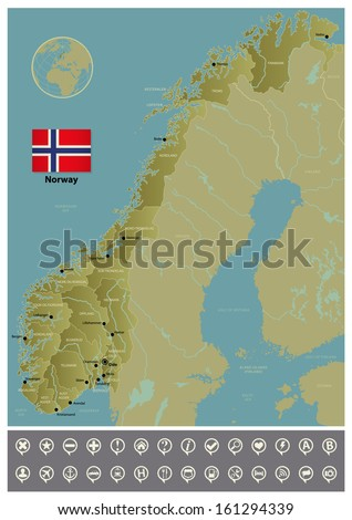 Norway - stock vector