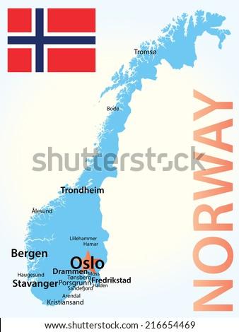 Norway - stock vector