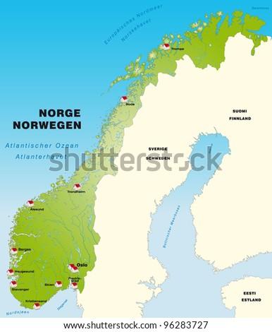 Norway Internet Map Stock Vector Shutterstock - Internetmap
