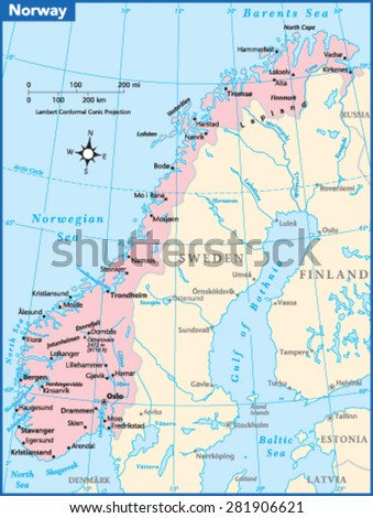 Finland Country Map Stock Vector Shutterstock - Norway map vector countries