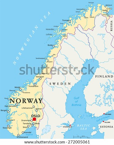 Norway Map Stock Images RoyaltyFree Images Vectors Shutterstock - Norway map cities